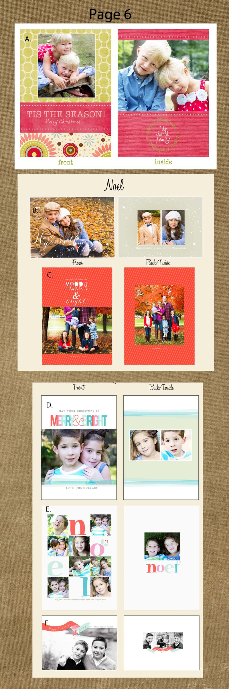 Page 6 cards