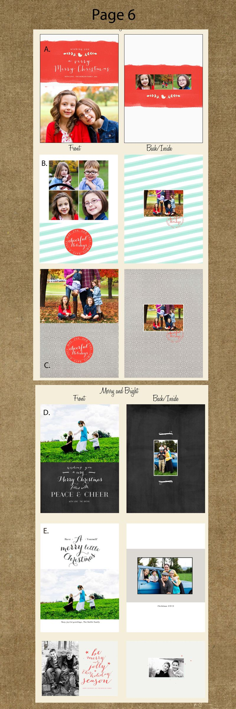 Page 7 cards