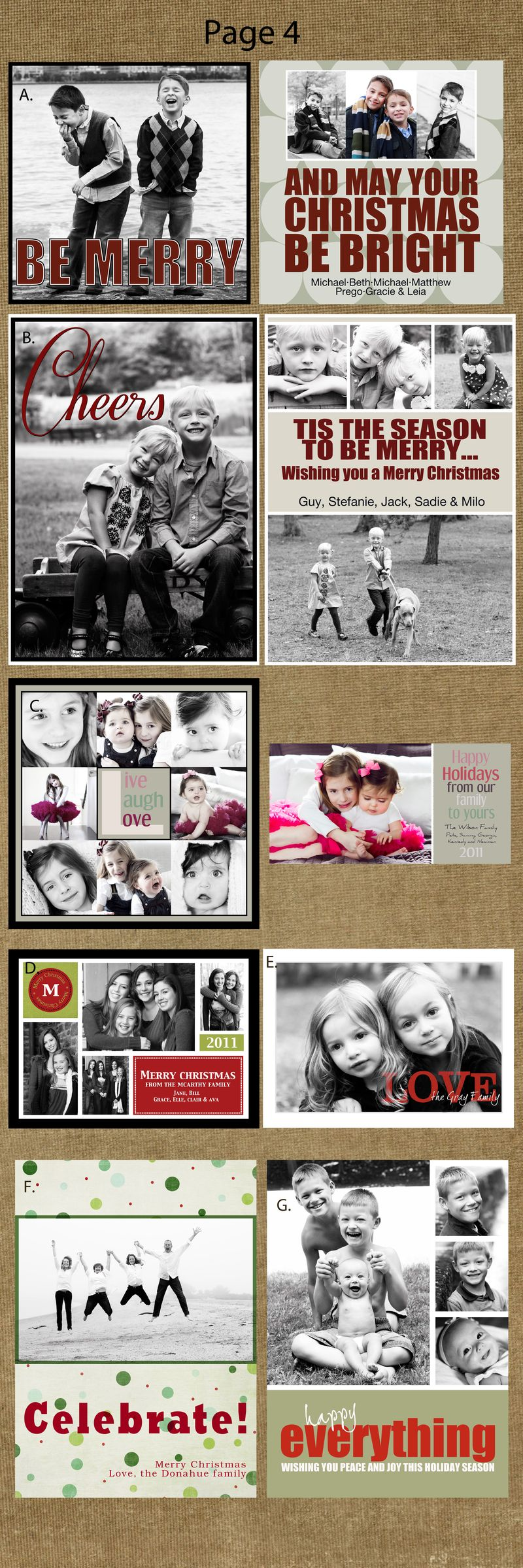 Page 4cards