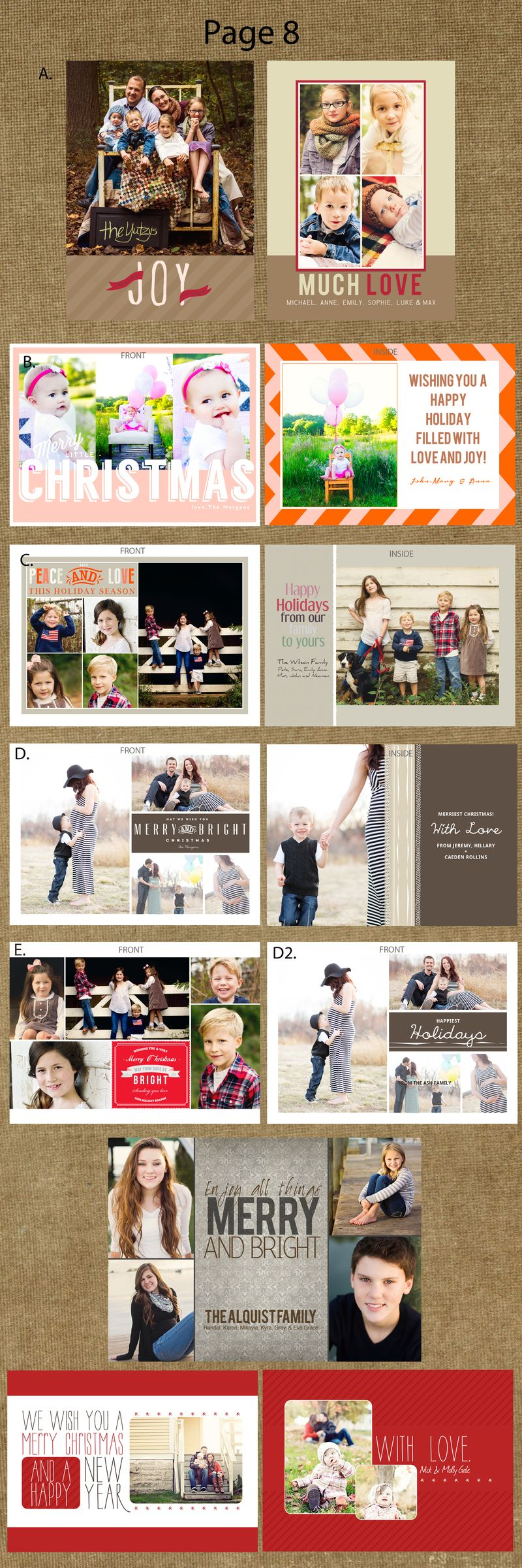 Page 8 cards