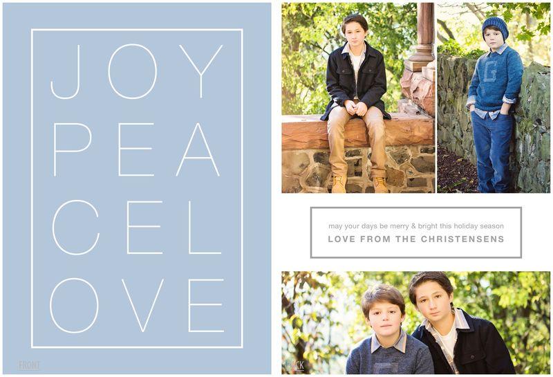 Joy peace love color board