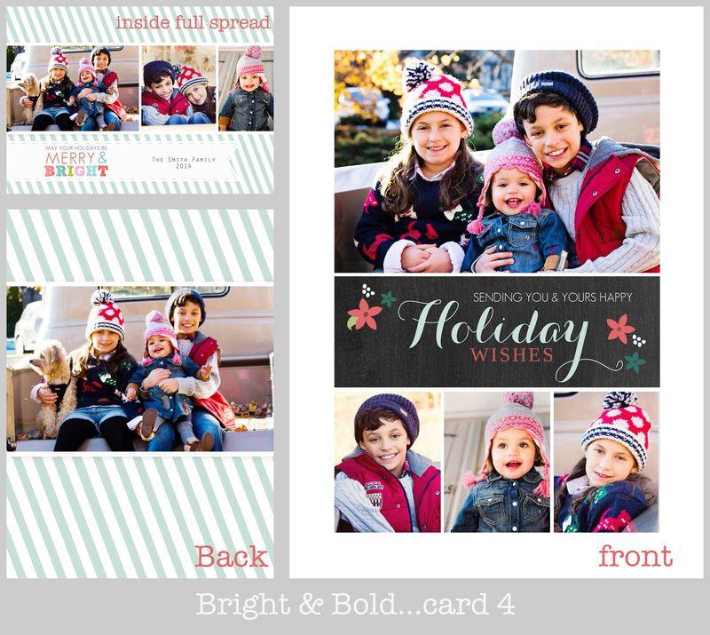 Bright and bold card 4 board