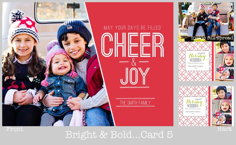 Bold and bright card 5